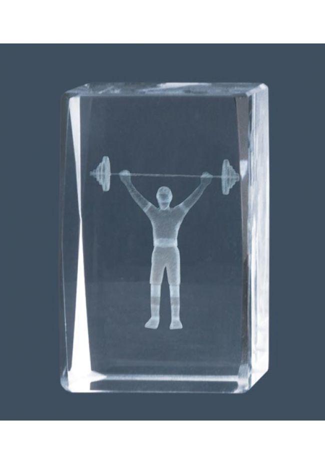 Trofeo cristal 3D Culturismo
