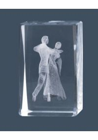 Trofeo cristal 3D Bailes