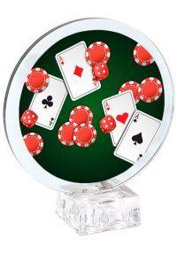 Trofeo cristal circular de Poker