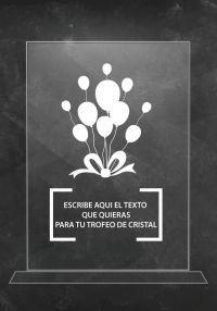 Trofeo de cristal para celebraciones