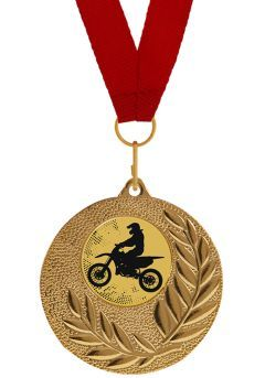 Medalla Completa de Moto Cross