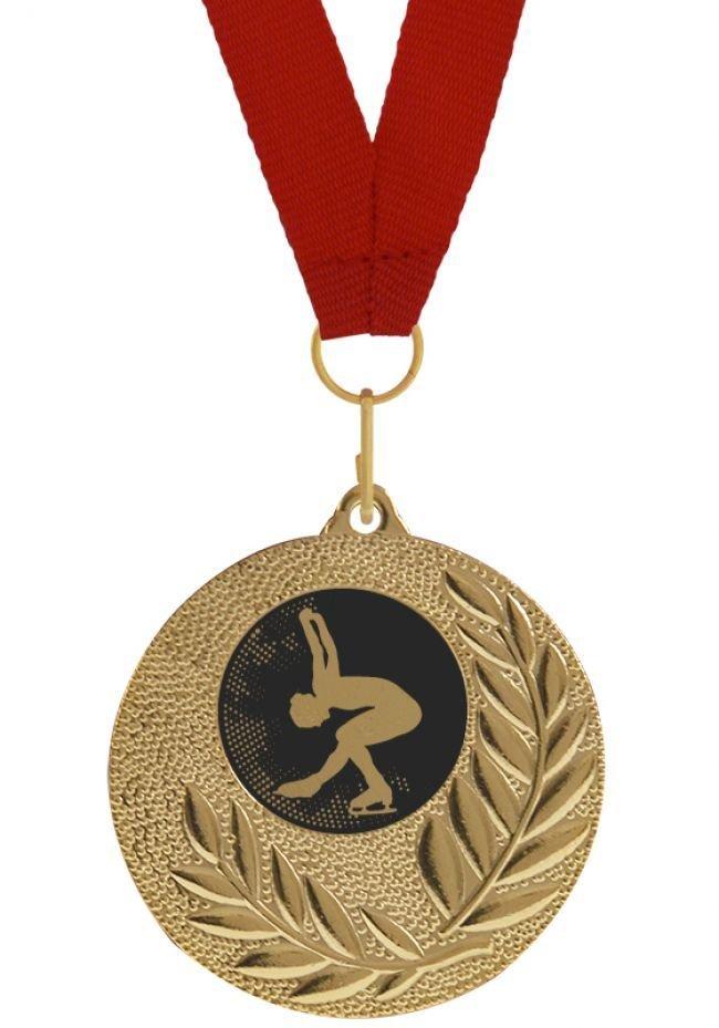 Medalla Completa de Patinaje Artístico sobre hielo