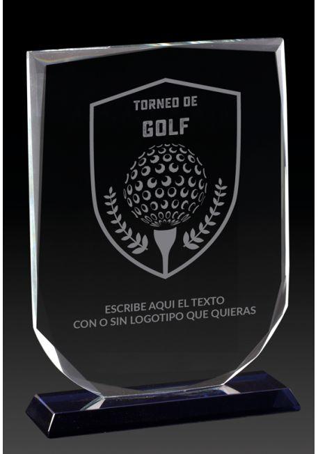 Trofeo de cristal para Torneos de Golf