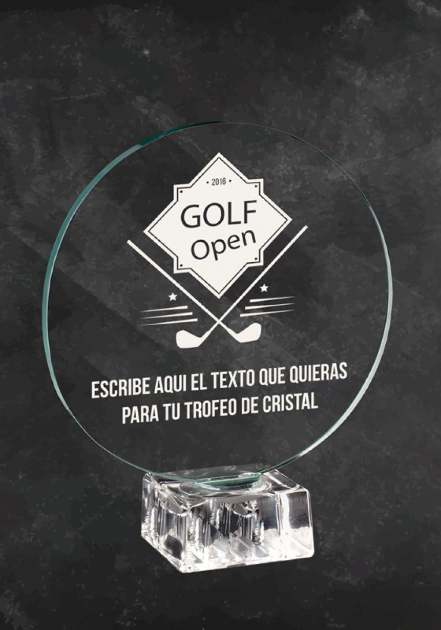 Trofeo de cristal OPEN de Golf
