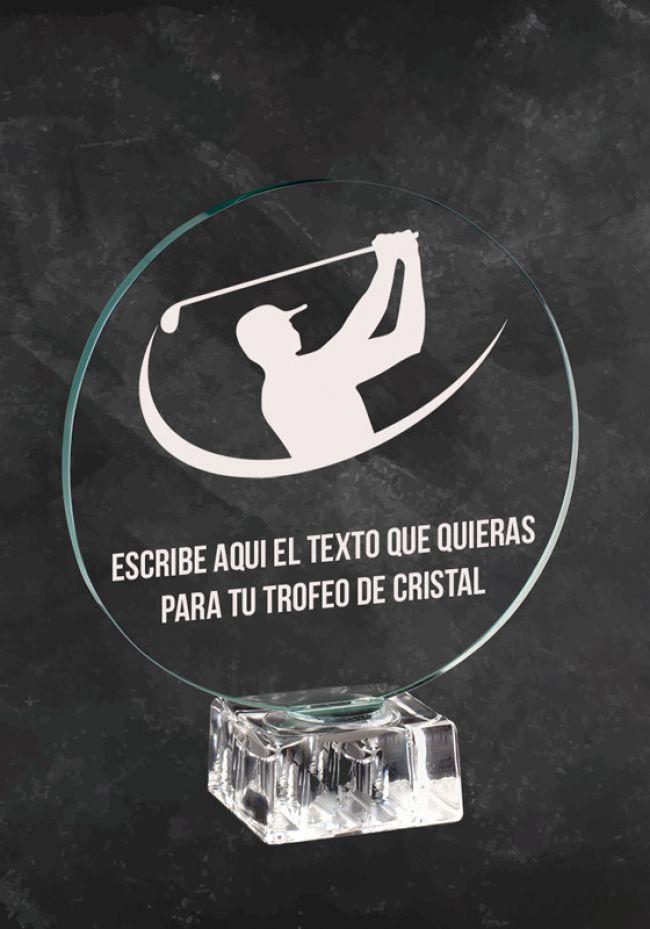 Trofeo de cristal para campeonato de Golf