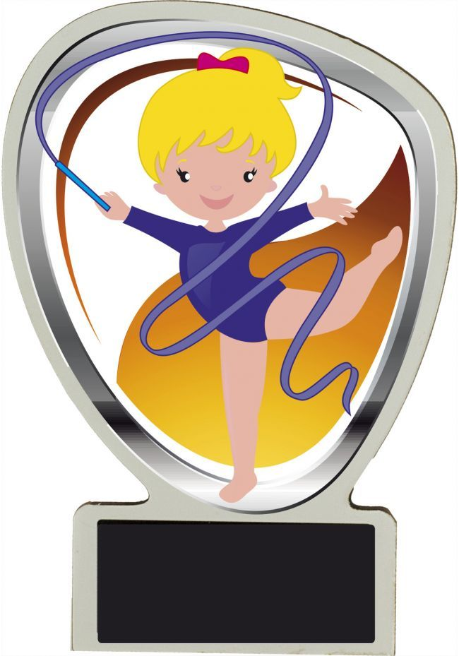 Trofeo muñeco de gimnasia rítmica