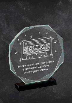 Trofeo en cristal para premios de Música