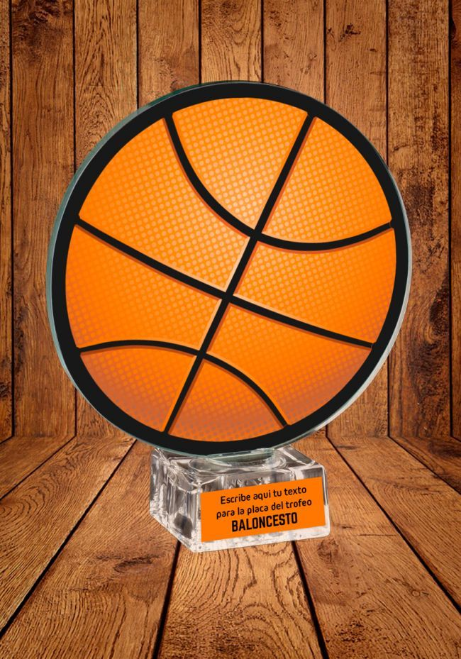Trofeo de cristal para Baloncesto