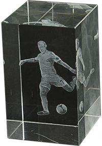 Trofeo Cristal 3D Fútbol Masculino