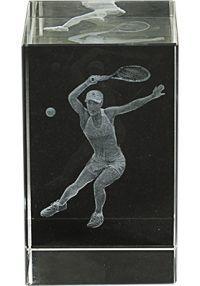 Trofeo cristal 3D Jugadora Tenis