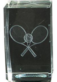 Trofeo cristal 3D Raquetas Tenis
