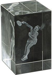Trofeo cristal 3D Jugador Femenino Pádel