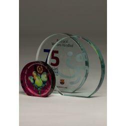 Circular Glass Trophy Color