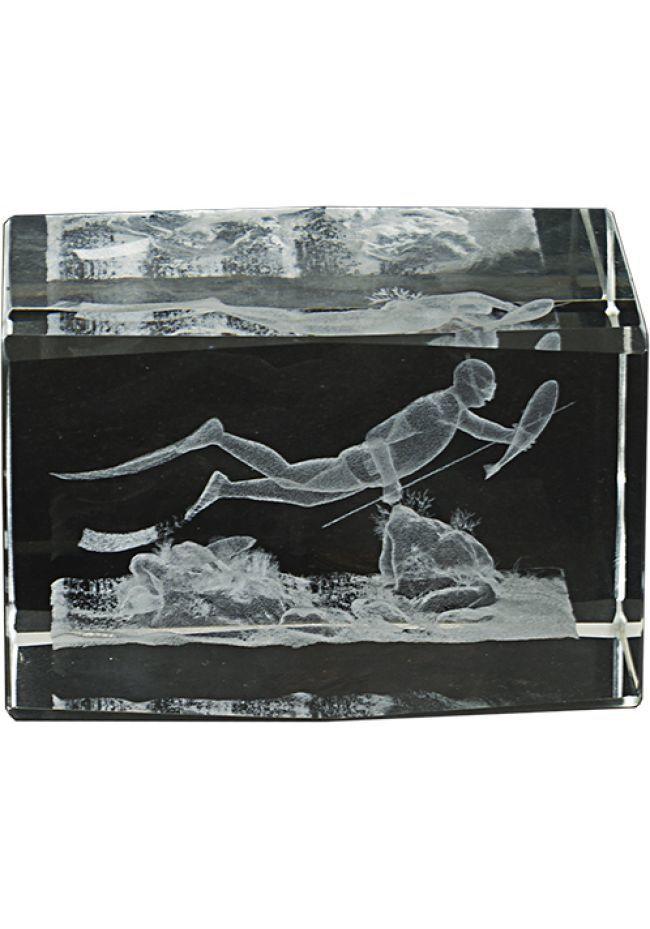 Trofeo cristal 3D Buceo