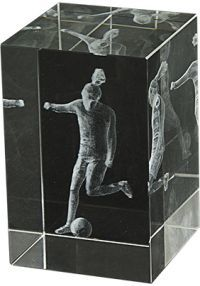 Trofeo cristal 3D Fútbol Femenino