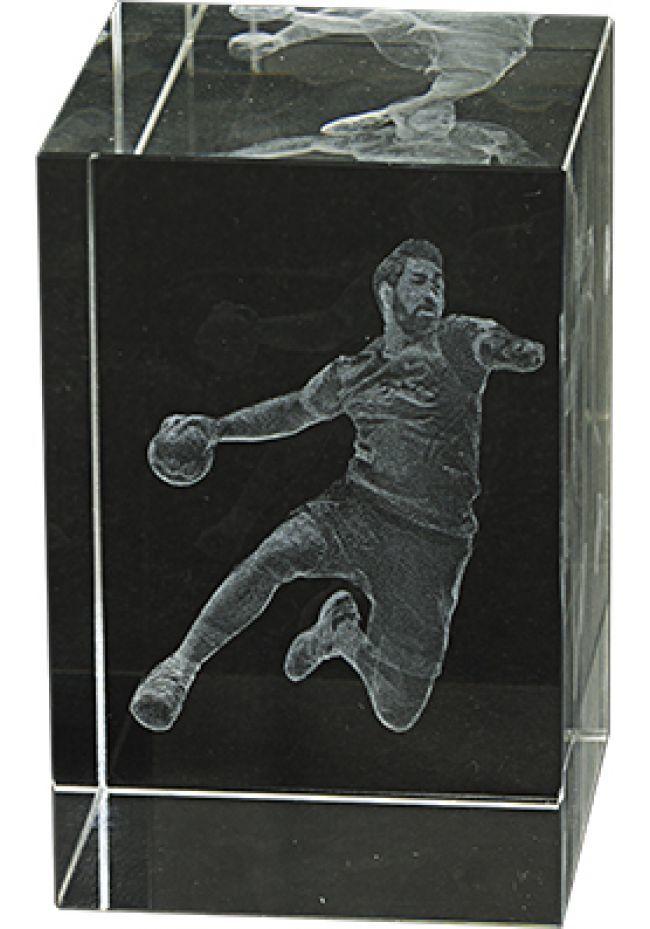 Trofeo cristal 3D Balonmano