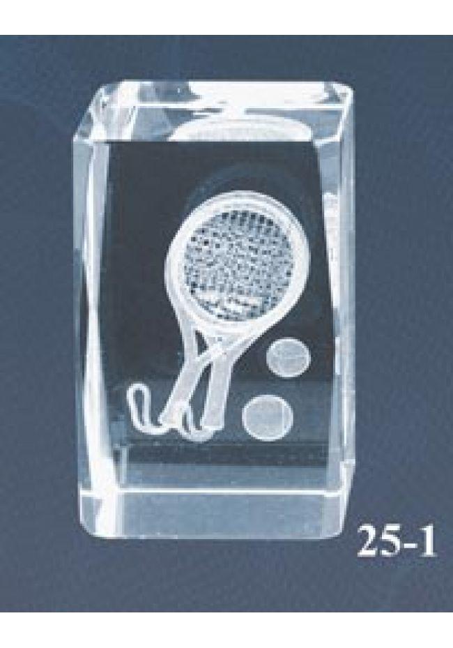 Trofeo cristal 3D Pádel