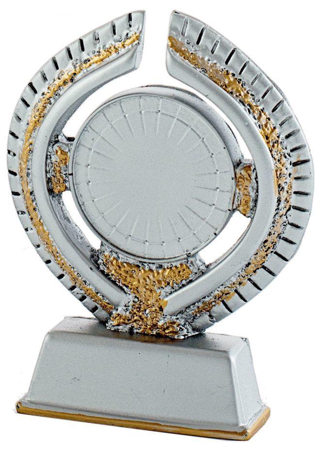 Trofeo portadisco resina plata