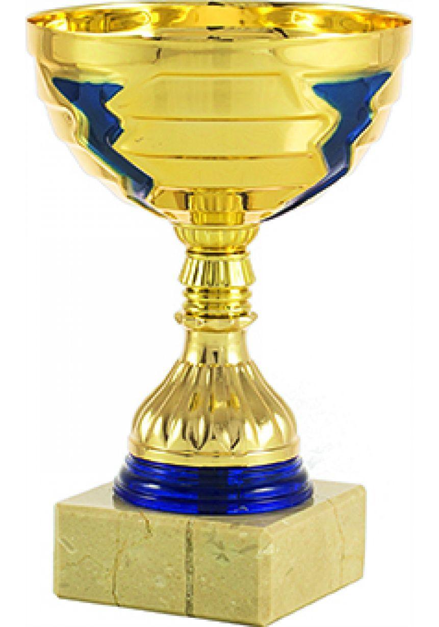 Trofeo cinta dorado y azul