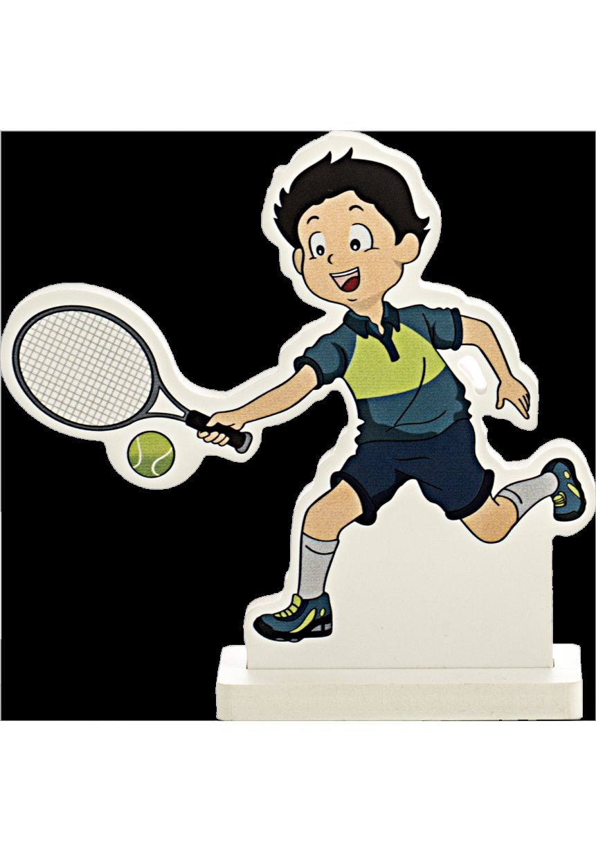 Trofeo muñeco deportivo tenis
