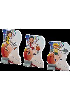 Trofeo muñeco deportivo gimnasia rítmica