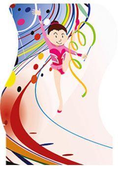 Trofeo muñeco deportivo gimnasia rítmica Thumb