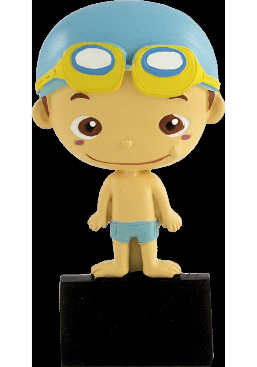 Trofeo deportivo con muñeco natación
