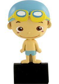 trophée sportif avec piscine de poupée