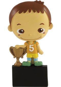Trofeo deportivo con muñeco participación