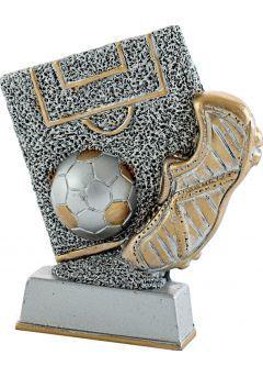 Trofeo campo y balón fútbol