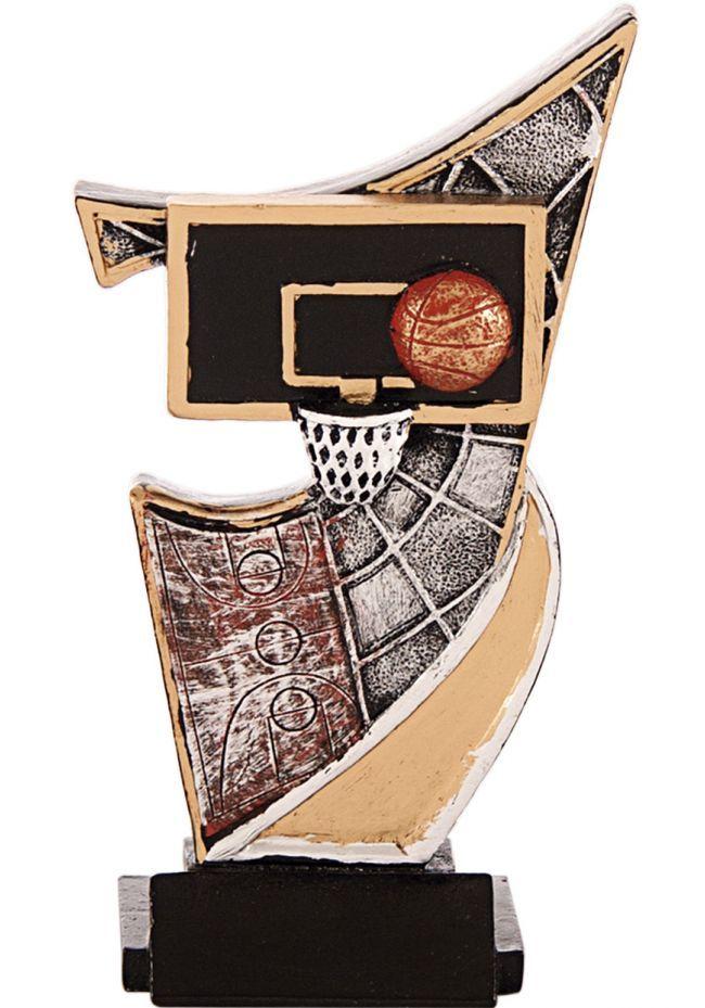 Trofeo resina aplique baloncesto
