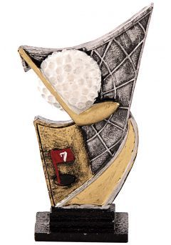 Trofeo resina aplique golf