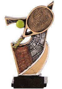 Trofeo resina aplique tenis
