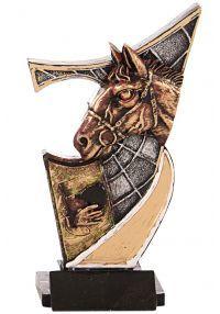resina Trophy cavalos aplicada