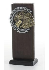 Trofeo Madera/Resina Cartas-1
