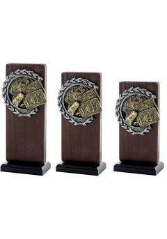 Trofeo Madera/Resina Cartas Thumb