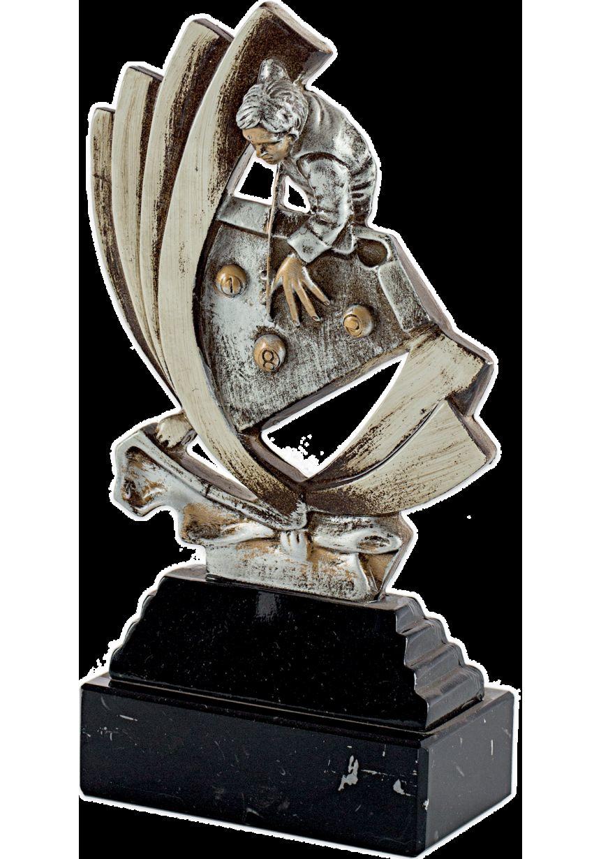 Trofeo resina silueta de billar