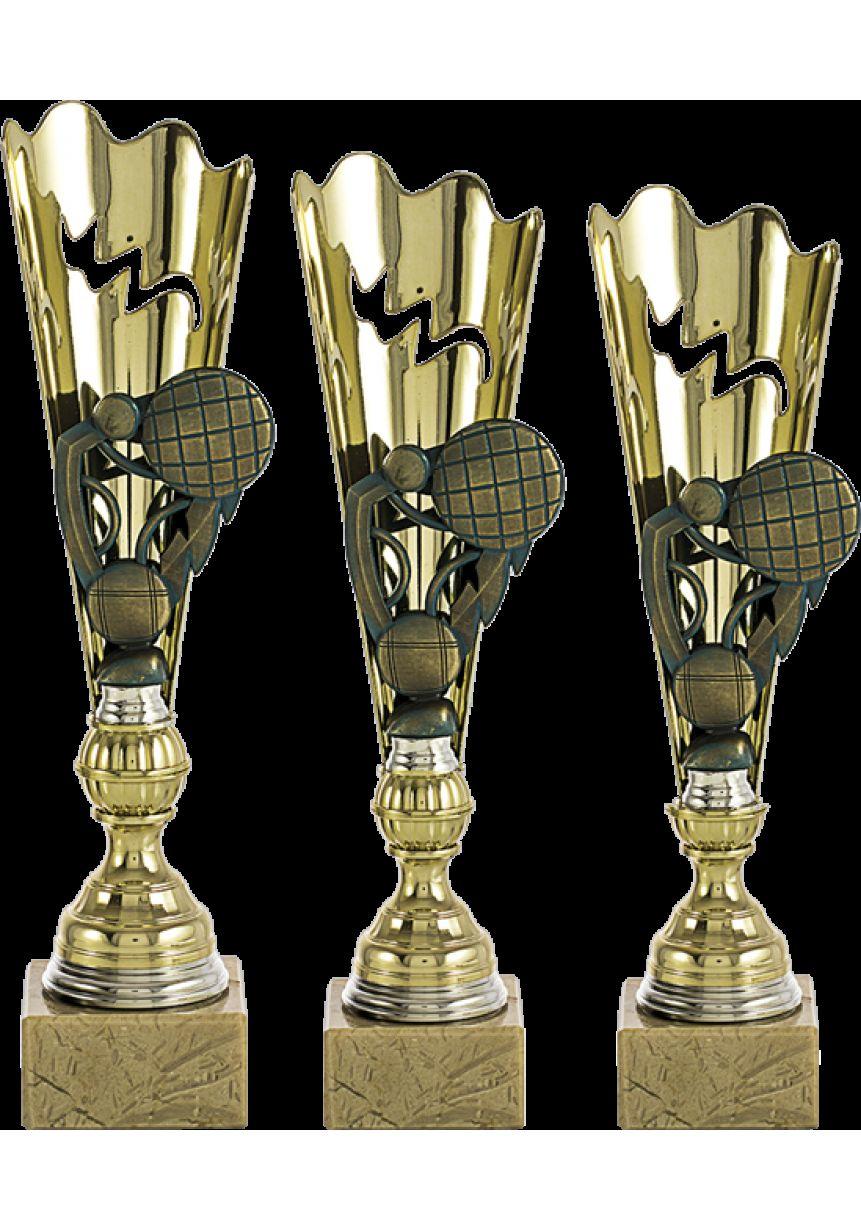 Trofeo con aplique de petanca