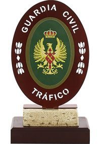 Metal Civil Guard Traffic Trophy