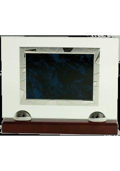 placa homenaje cristalplaca azul 10