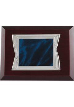 Placa Homenaje Azul Madera-1