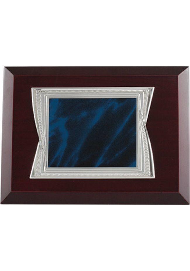 Placa Homenaje Azul Madera
