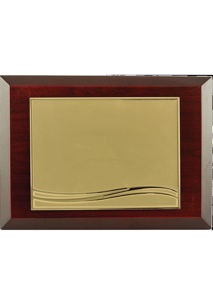 Placa Homenaje Madera Oro