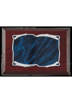 placa homenaje pergamino detalle azul 10