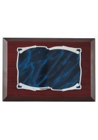 Placa Homenaje pergamino detalle azul