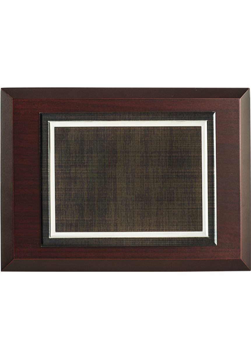 Placa de homenaje efecto madera biselado
