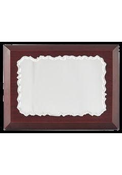placa de homenaje efecto madera biselado 11