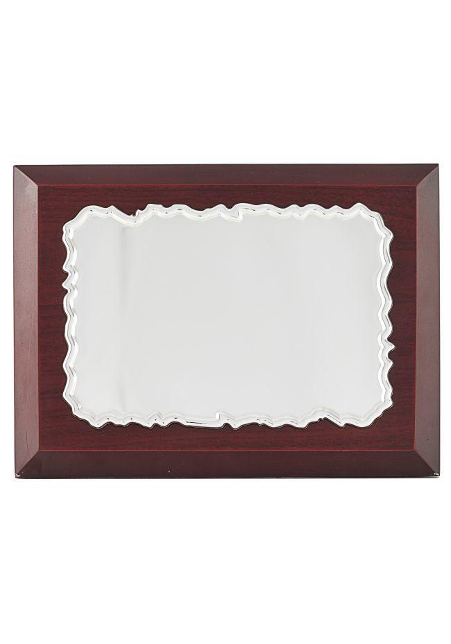 Placa de homenaje pergamino plata