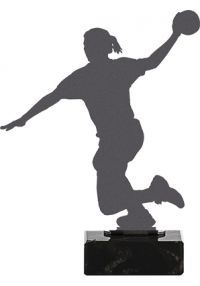 Handball Trophy aus Metall