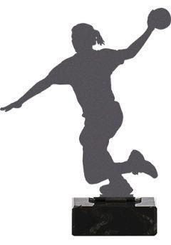 Trofeo de Balonmano realizado en metal